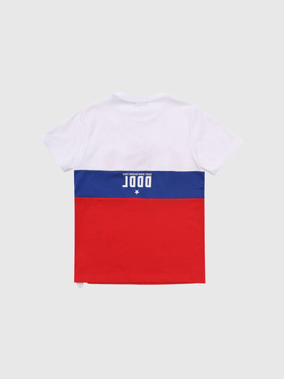 Diesel - TJUSTA1, White/Red/Blu - T-shirts and Tops - Image 2