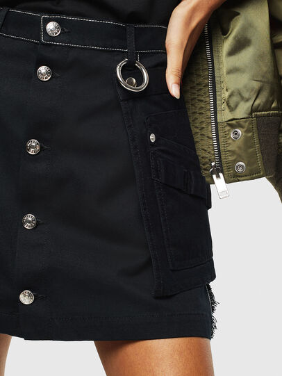 Diesel - O-LADEL, Black - Skirts - Image 6