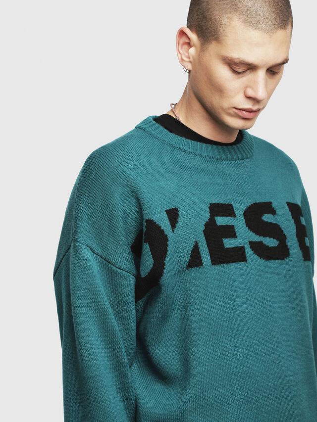 Diesel K-LOGOX, Water Green - Knitwear - Image 3