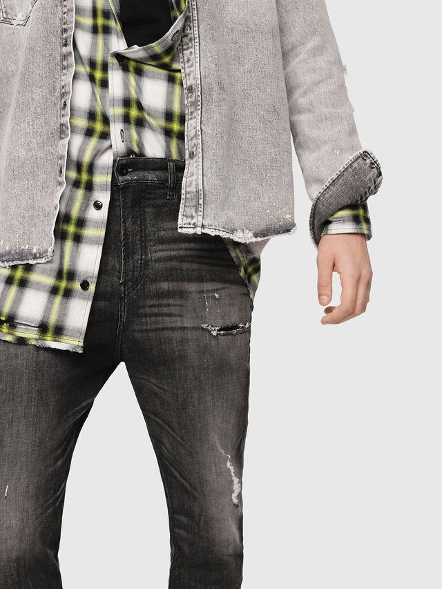 Diesel - D-Vider JoggJeans 0077S, Black/Dark grey - Jeans - Image 4