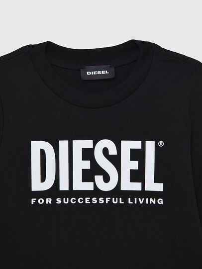 Diesel - TJUSTLOGOB ML-R, Black - T-shirts and Tops - Image 3