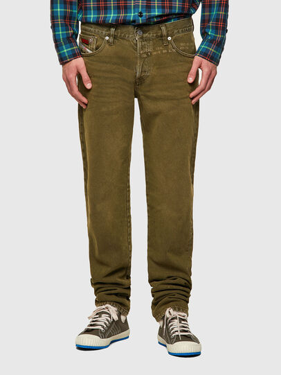 Diesel - D-Kras 09A35, Military Green - Jeans - Image 1
