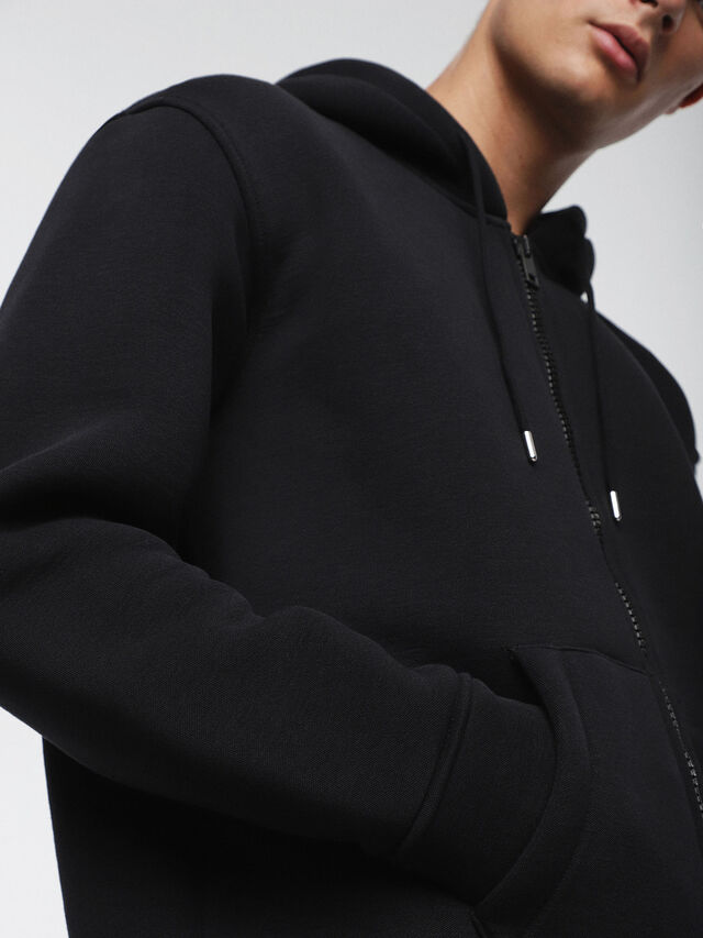 Diesel - S-GORDON-ZIP, Opaque Black - Sweaters - Image 3