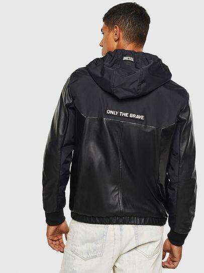 Diesel - L-CARRS, Black - Leather jackets - Image 2