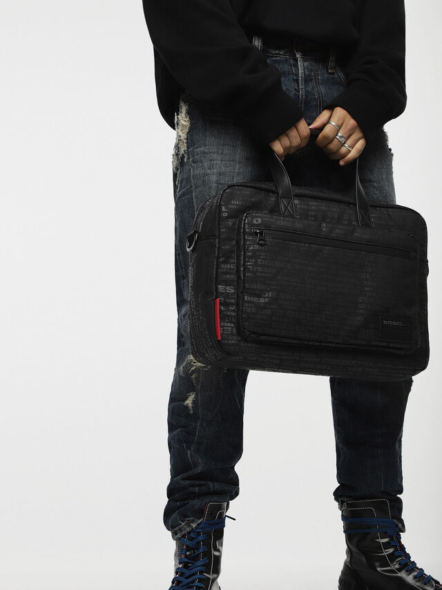 Diesel - F-DISCOVER BRIEFCASE, Black - Briefcases - Image 4