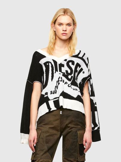 Diesel - M-ROSALINE, White/Black - Knitwear - Image 1