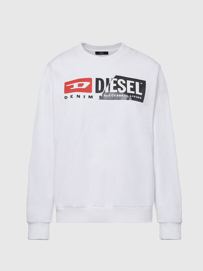 Diesel - F-ANG-CUTY, White - Sweaters - Image 1