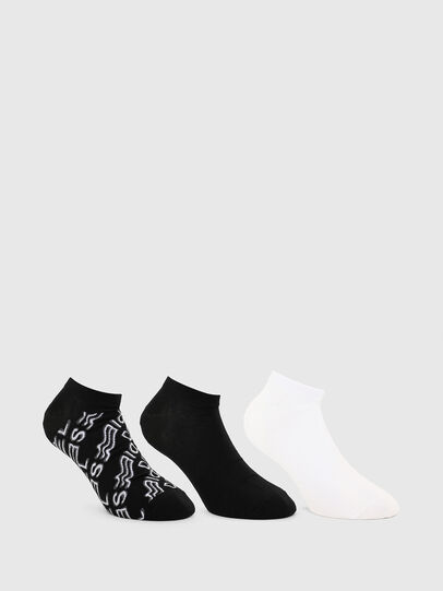 Diesel - SKM-GOST-THREEPACK, White/Black - Socks - Image 1