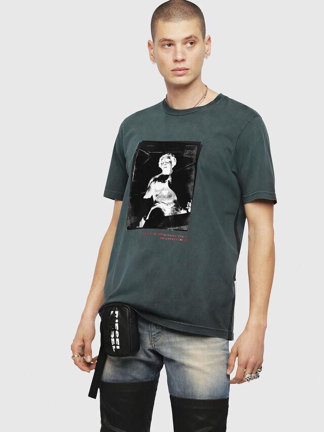 Diesel - T-JUST-YS, Dark Green - T-Shirts - Image 1