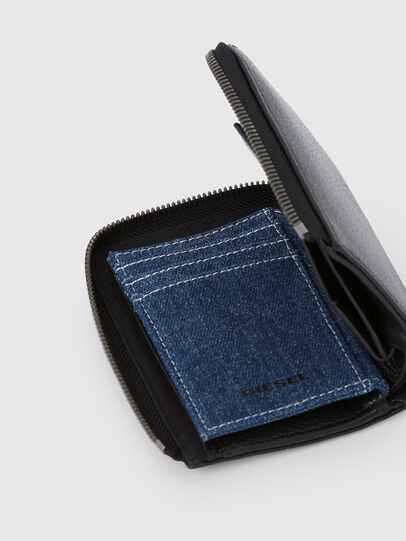 Diesel - L-12 ZIP, Black/Blue - Zip-Round Wallets - Image 4