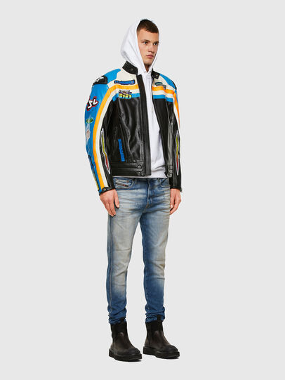 Diesel - ASTARS-LPATCH-1A-B, Black - Leather jackets - Image 7