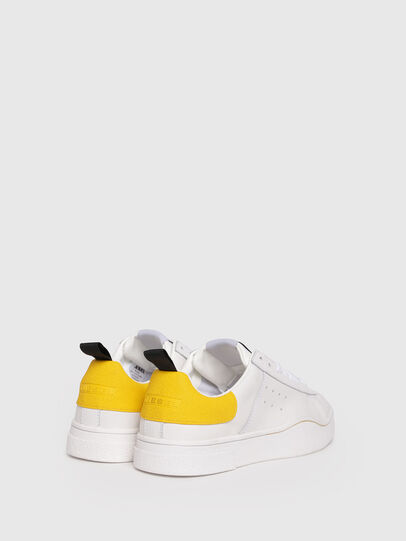 Diesel - S-CLEVER LOW W, White/Yellow - Sneakers - Image 3