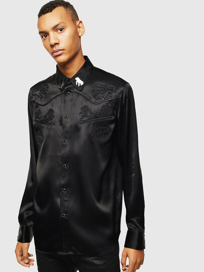 Diesel - S-VEL, Black - Shirts - Image 1