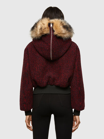 Diesel - W-SAMOEI-A, Black/Red - Winter Jackets - Image 2