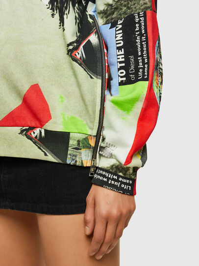 Diesel - F-ANG-ZIP-V43, Red/White - Sweaters - Image 3