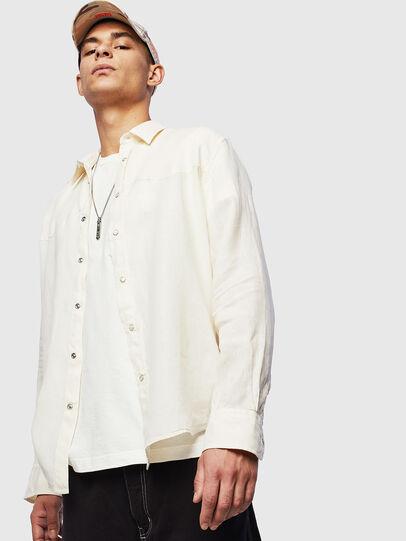 Diesel - S-PLAN-B, White - Shirts - Image 5