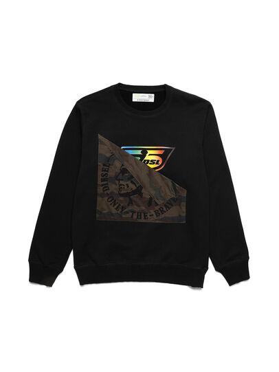 Diesel - D-HALF&HALF, Black - Sweaters - Image 1
