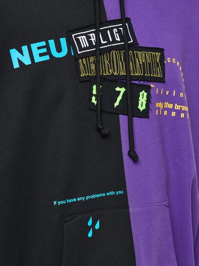 Diesel - S-UMMER-SPLIT-N1, Black/Violet - Sweaters - Image 3