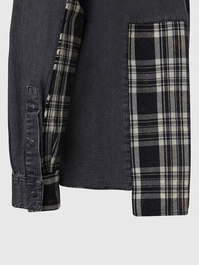 Diesel - D-FINLY, Dark grey - Denim Shirts - Image 4