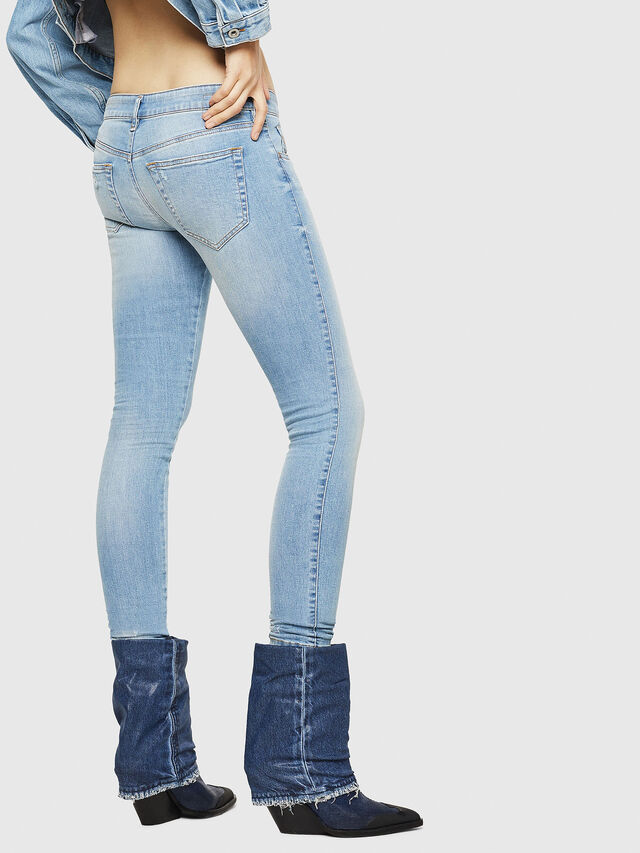 Diesel - Slandy Low 086AA, Light Blue - Jeans - Image 2