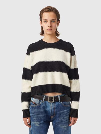 Diesel - M-VIRGINIA, Black/White - Knitwear - Image 1