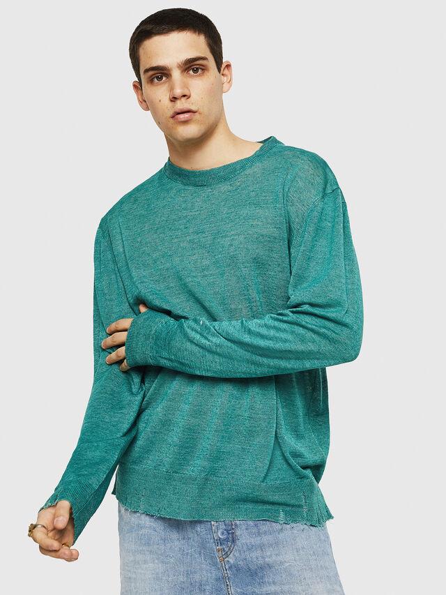 Diesel - K-SDRU, Green - Knitwear - Image 1