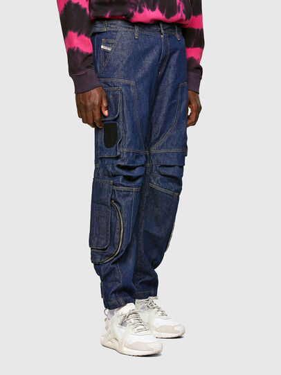 Diesel - D-KARGO, Medium blue - Pants - Image 7
