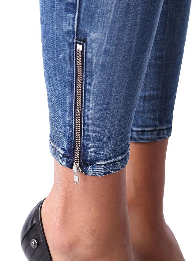 Diesel - Skinzee Low Zip 0847U, Medium blue - Jeans - Image 6