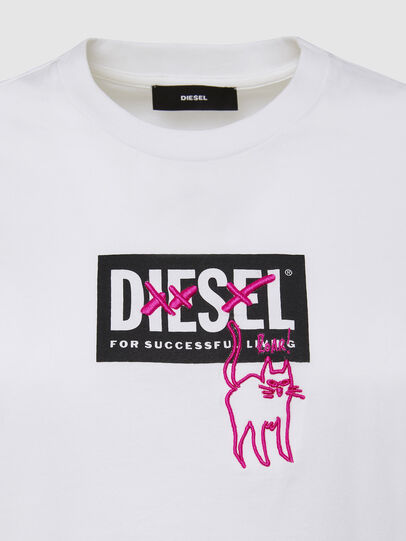 Diesel - T-SILY-E52, White - T-Shirts - Image 3