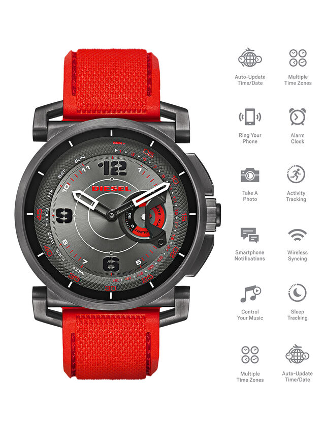 Diesel - DT1005, Red - Smartwatches - Image 1
