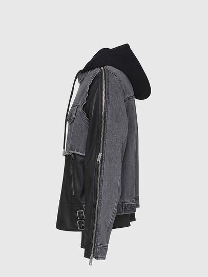 Diesel - L-IVAN, Black - Leather jackets - Image 3