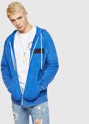 S-GIM-HOOD-ZIP, Cerulean - Sweaters