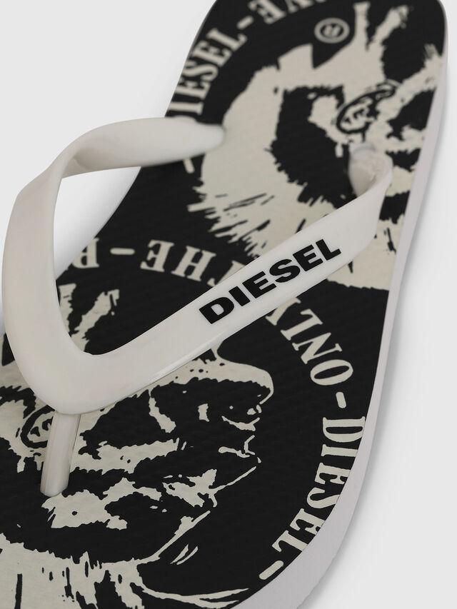 Diesel - FF 22 FLIPPER YO, White/Black - Footwear - Image 3