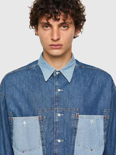 Diesel - DxD-SHIRT, Medium blue - Denim Shirts - Image 4