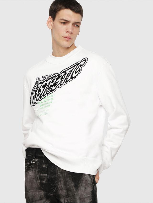 Diesel - S-BAY-YC, White - Sweaters - Image 1