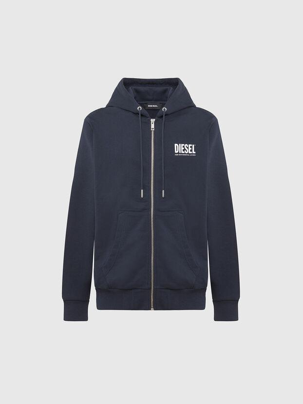 S-GIRK-HOOD-ZIP-LOGO, Dark Blue - Sweaters