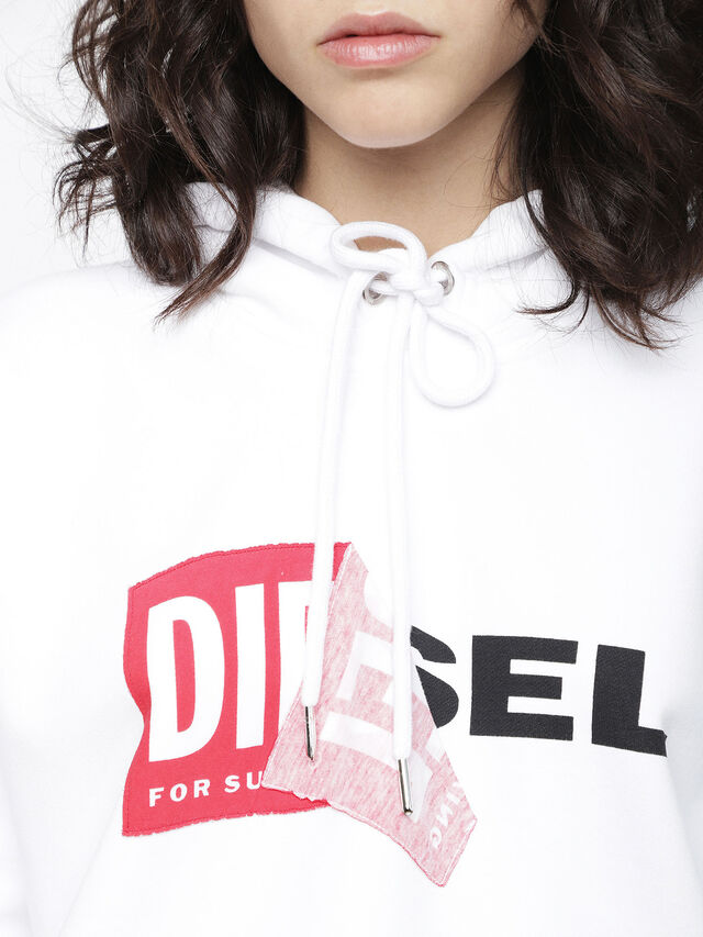 Diesel F-ALBY-FL-A, White - Sweaters - Image 3