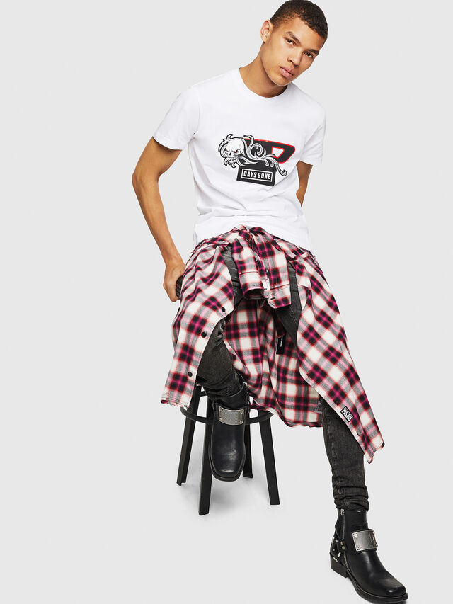 Diesel - PS-T-DIEGO-OCTOSKULL, White - T-Shirts - Image 6