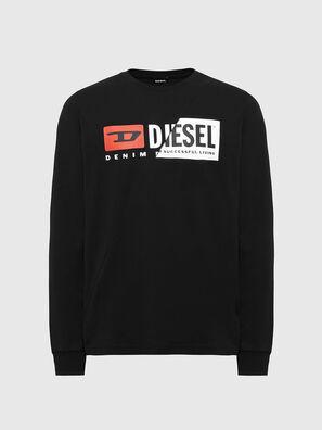 T-DIEGO-LS-CUTY, Black - T-Shirts