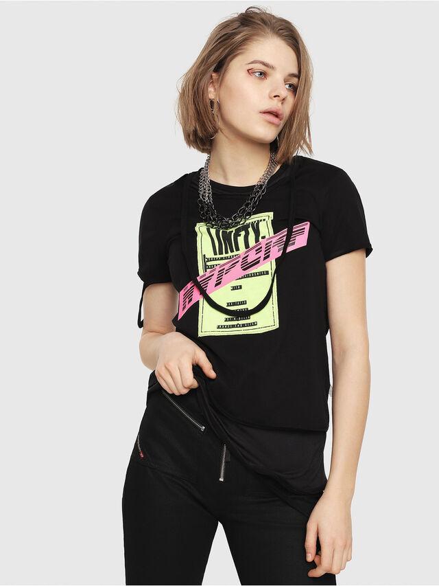 Diesel - T-EMIKO-B, Black - T-Shirts - Image 1