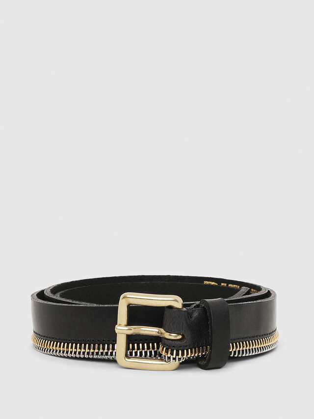Diesel - B-ZIPPER, Black - Belts - Image 1