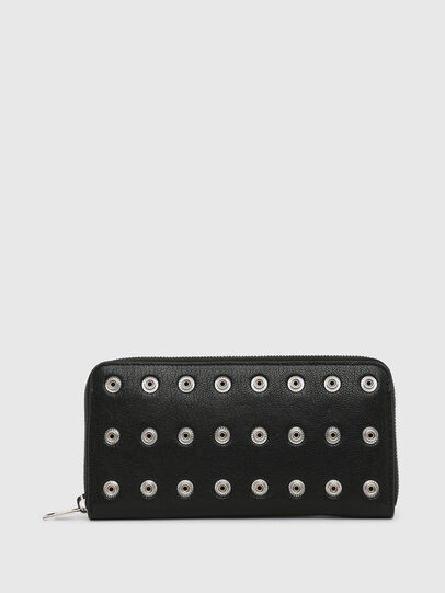 Diesel - 24 ZIP CHAIN, Black - Zip-Round Wallets - Image 1