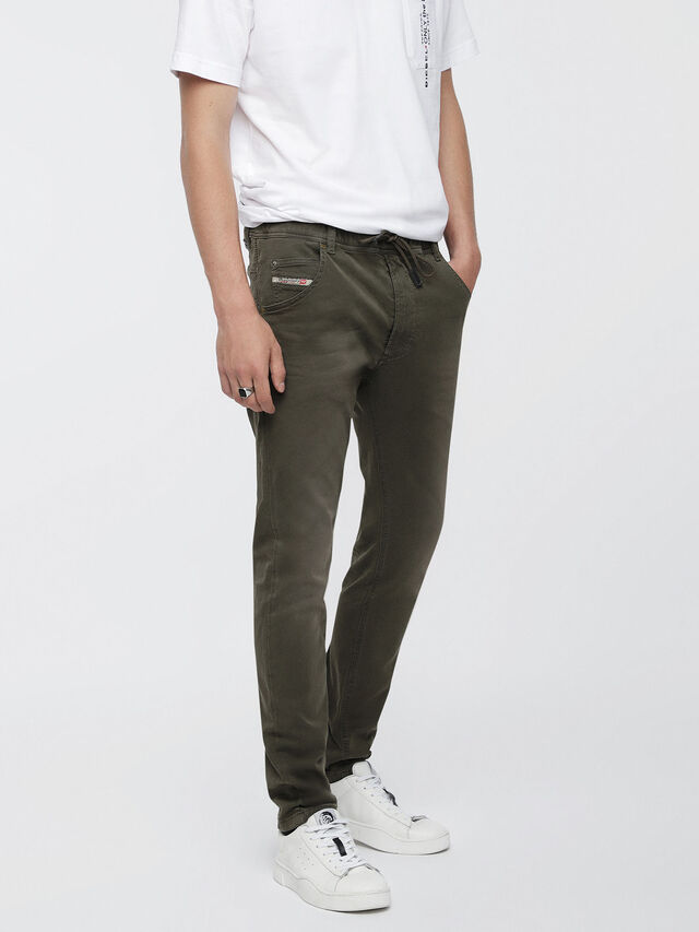 Diesel - Krooley JoggJeans 0670M, Military Green - Jeans - Image 1