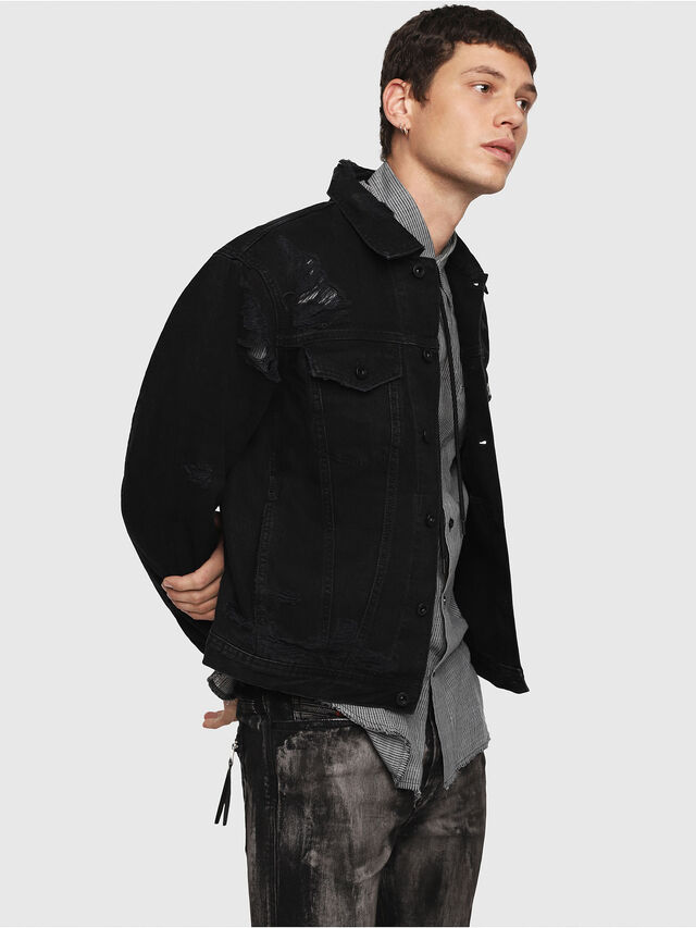 Diesel - D-HILL, Black - Denim Jackets - Image 3