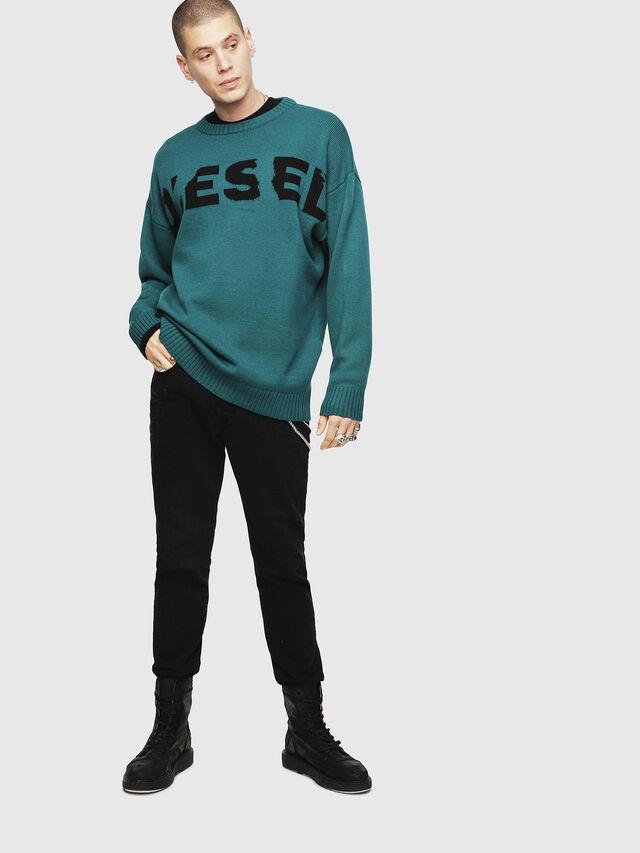 Diesel K-LOGOX, Water Green - Knitwear - Image 4