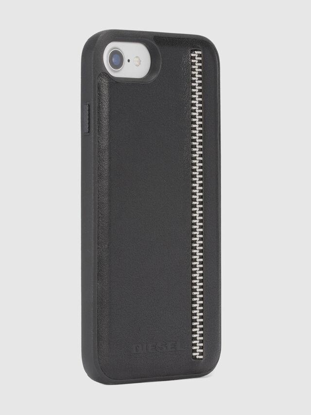 ZIP BLACK LEATHER IPHONE 8 PLUS/7 PLUS/6s PLUS/6 PLUS CASE, Black