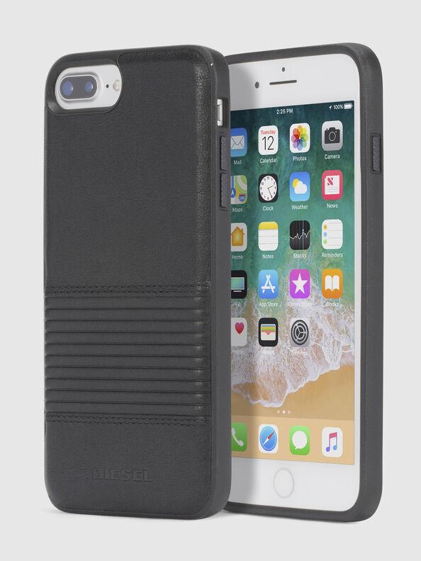 BLACK LINED LEATHER IPHONE 8 PLUS/7 PLUS/6s PLUS/6 PLUS CASE,  - Cases