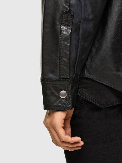 Diesel - L-BROWN, Black - Leather jackets - Image 5