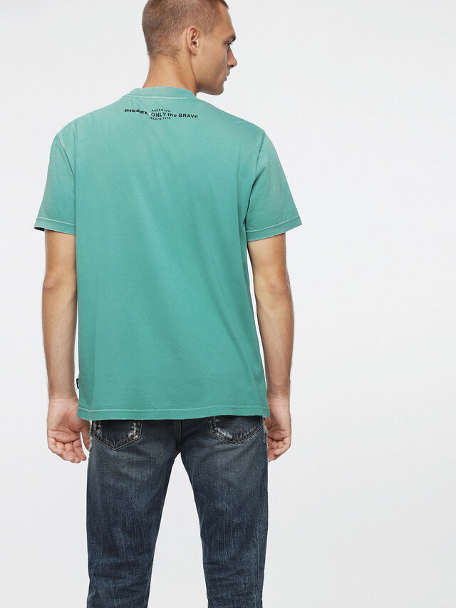 Diesel T-JOEY-T, Water Green - T-Shirts - Image 2