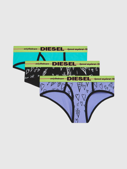 Diesel - UFPN-OXY-THREEPACK, Green/Black - Panties - Image 1